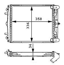 Radiator-Carrera, FI Right Behr Hella Service 376713791