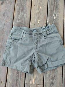 "Kuhl Shorts Women's 2 Gray Vintage Patina Dye Cotton Nylon 5"" Inseam"