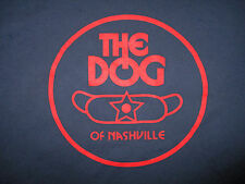 DOG OF NASHVILLE T SHIRT Home of Foot Long Weiner Also Sell Hot Dogs Tee Blue XL