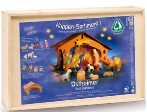 Krippensortiment I Ostheimer 6020 Krippe Weihnachtskrippe Bauernhof Figuren