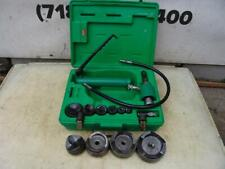 Greenlee Knock Out Hydraulic Punch And Die Set 7310 12 To 4 Inch Works Fine