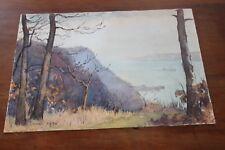 "Painting Hudson River DEXTER B. DAWES ""Palisades Late Autumn"" Watercolor 1949"