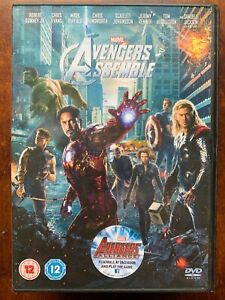 Avengers Assemble DVD 2012 Captain America Thor Hulk Iron Man Marvel Movie