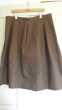 Laura Ashley (uk Designer) Ladies Dark Brown Skirt Size 16 With Tags