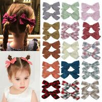 2Pcs Flower Hair Clips Baby Girls Bows Barrettes Kids Hairpins Hair Accessories-