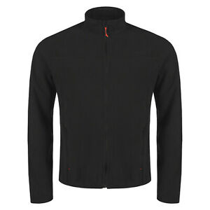 New Mens Fleece Jacket Full Zip Up Polar Outdoor Work Warm Coat Top Pockets