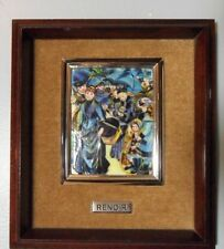 VINTAGE BAREA RENOIR ENAMEL ON PURE SILVER PAINTING~RARE REPRODUCTION~FINE!