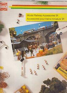 BUSCH HO N Z & 1 GAUGE MODEL RAILWAY ACCESSORIES 1991 PRODUCT RANGE CATALOGUE