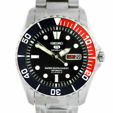 Seiko Sea Urchin Pepsi Stainless Steel Automatic Mens Watch SNZF15K1