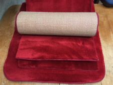 53x23.00inches(135x58cm) TWO RICH RED THICK PILE RUGS / CARPETS #10