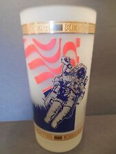 Kennedy Space Center Frosted Glass 22K Gold Kapan-Kent Shuttle Eagle Patriotic