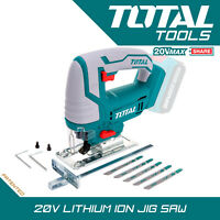 Cordless Electric Jigsaw, 20v Variable Speed 5PC Blade Set Body Only
