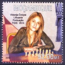 Mozambique 2013 MNH, Lithuania chess player Viktorija Cmilyte Nielsen, Sports