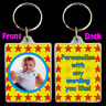 Personalised STARS KEYRING Xmas Birthday gift with childs photo - auntie uncle