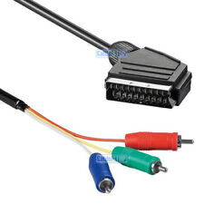 2m SCART to 3 RCA Male (YUV/RGB) Video Cable 2 metres