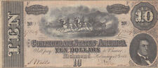 10 DOLLARS VERY FINE BANKNOTE FROM CONFEDERATE STATES OF AMERICA 1864