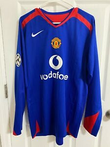 2005/06 Manchester United Match Worn Ryan Giggs Shirt Player issue UCL Long L/S
