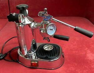 La Pavoni Professional Espressomaschine groß + Brühkopfthermometer + Einlochdüse