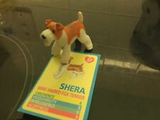 Vintage Puppy in my Pocket-Wire Haired Fox Terrier SHERA avec carte d'identité nº 37