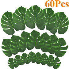 60pcs Tropical Palm Leaves artificial Monstera Leaves Placemats Home Party Decor