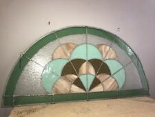 Large Stained Glass Salvage Estate Window Hanging