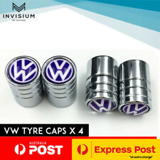 Volkswagen VW Car Tyre Stems Valve Dust Cover Caps Golf GTI POLO TOUARAG PASSAT