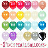 "10-50 PEARL LATEX METALLIC CHROME BALLOONS 5"" Helium Baloons Birthday Party ball"