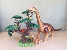 Playmobil Set 5231 Large Brachiosaurus Dinosaur With Baby & Figure-Jurassic Park