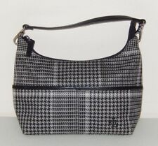 New ListingRalph Lauren Black Gray White Houndstooth Plaid Bag Purse Tote db1f124482