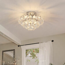 Homcom Deluxe Modern Crystal Ball 3 Light 30cm Ceiling Chandelier - Silver (B31-057)
