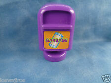 Vtech Smartville Purple Garbage Can Replacement Figure 3""