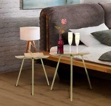 Arizona BEISTELLTISCH 2er Set gold Couchtisch Sofatisch Nachttisch modern ~cf