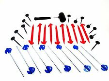 Leisurewize 33pc Awning Tent Peg & Mallet Camping Kit With Carry Case LWACC430