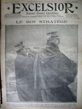 WW1 N° 1705 ROI ITALIE STRATEGE PHYSICIEN MARCONI ARMéE ITALIENNE EXCELSIOR 1915