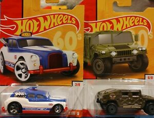 ✅Hot Wheels 60's '90a Humvee And Cockney Cab II lot of 2