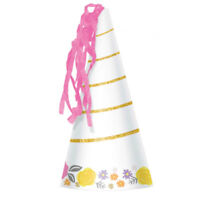 MAGICAL UNICORN HORN PARTY HAT PACK OF 8 BIRTHDAY PARTY SUPPLIES