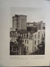 Downtown San Antonio Texas 1927 Edward Hoppe Photogravure
