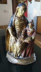 Scultura in legno Madonna antica '700 sculpture wooden statue