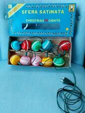 Vintage collezione Natale Christmas albero decorazioni 10 luci palline MAIDA