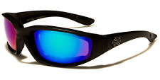 Padded men's MIRRORED Sunglasses / Goggles 100% UV 400 Protection