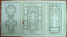 de Neufforge 3 PLANs architectures originale XVIII s.
