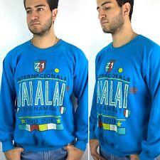 Vintage Jai Alai Sport Sweatshirt Mens XL Madrid Spain International Tournament