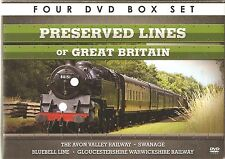 PRESERVED LINES OF GREAT BRITAIN - 4 DVD BOX SET - AVON VALLEY * SWANAGE & MORE