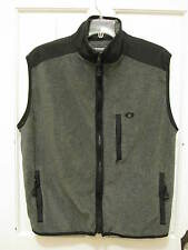 AE Performance American Eagle Full Zip Front Vest SZ L Charcoal Gray Black EEUC