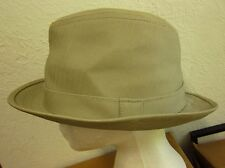 ANOMA Mod khaki Gangster Fedora Swing Small-Med Throwback Texturiert Trilby Hut