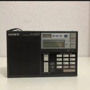 Sony ICF-7600D FM/LW/MW/SW Receiver / Weltempfänger aus den 80´er Jahren!!!