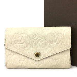 Louis Vuitton Monogram Empreinte Curieuse Compact Leather Wallet /E0903
