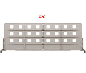 "PACK OF 20 - METRO MXD24-8 METROMAX I POLYMER SHELF DIVIDER 8"" X 24"""