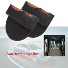 1 Pair PU Leather Catcher Box Car Seat Gap Slit Pocket Extra Storage Space Case