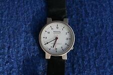 Rowenta Automatic Uhr Bahnhofuhr Glasboden Titan         -Made in Germany-